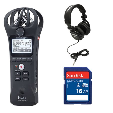 Zoom Handy Digital Audio Recorder + Memory Card + TASCAM Studio Headphones ()