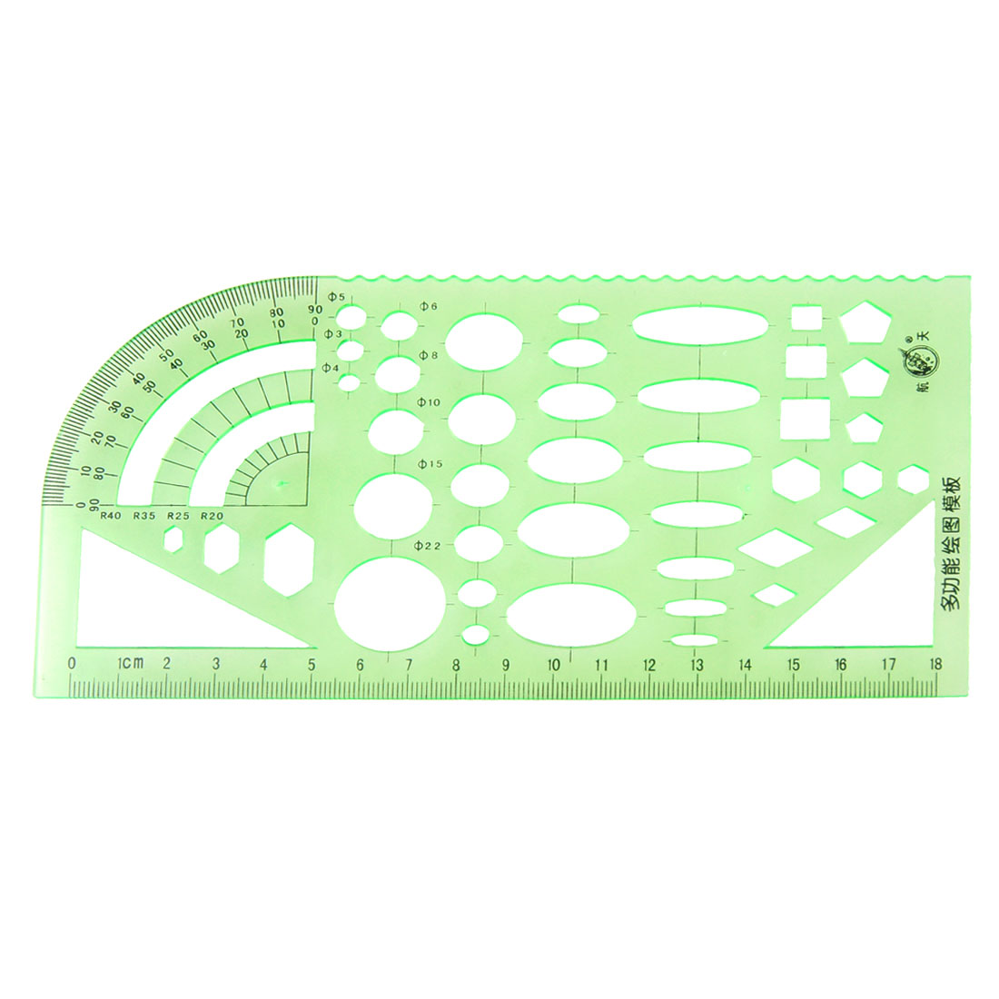 Unique Bargains Green Educational Stationery Measuring Template Ruler Guide for Students