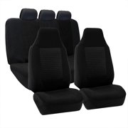 FH Group Premium Fabric Car Seat Covers Airbag Compatible With Split Bench Function