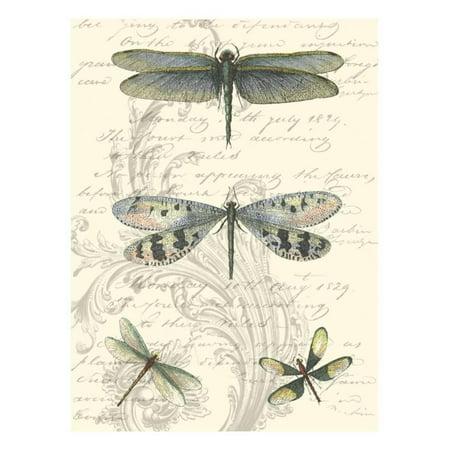 Pointillism Dragonfly Print - Dragonfly Delight II Print Wall Art