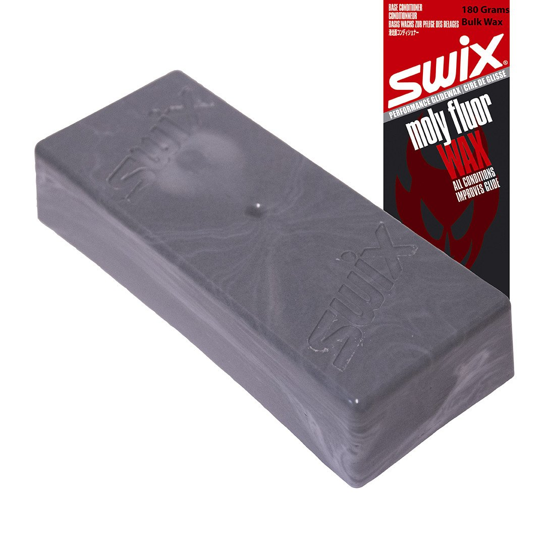 Swix Moly Fluoro Base Conditioning Wax: MB77 Black by Swix