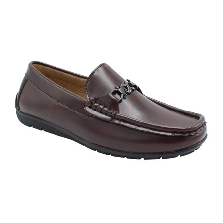 Jeff-05 Boys Loafers Shoes Dress Casual Loafers for Boys Slip-on Casual Comfortable Brown 6 Comfortable Casual Shoes