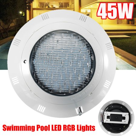 45W AC12V Underwater Swimming Pool Bright Light LED RGB With Remote Control  45PCS LED Lights