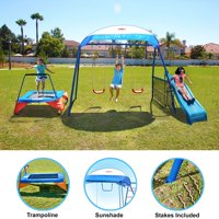 Deals on IronKids Inspiration 250 Fitness Playground Metal Swing Set