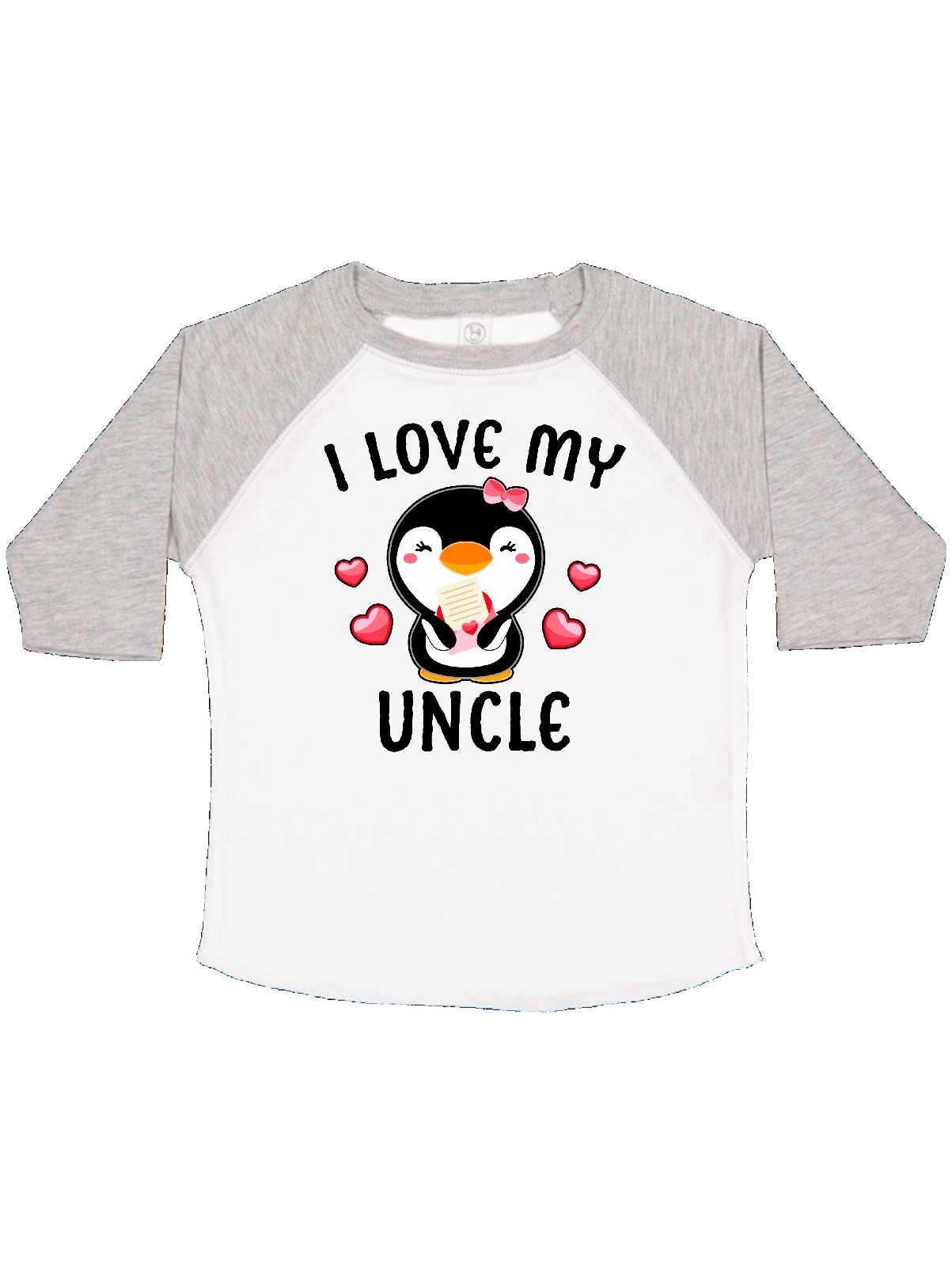 inktastic I Love My Great Aunt with Cute Penguin and Hearts Toddler T-Shirt