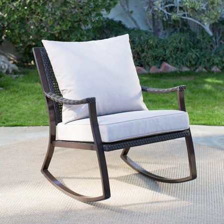 Coral Coast Losani All Weather Wicker Outdoor Rocking Chair Grand Wicker Rocking Chair
