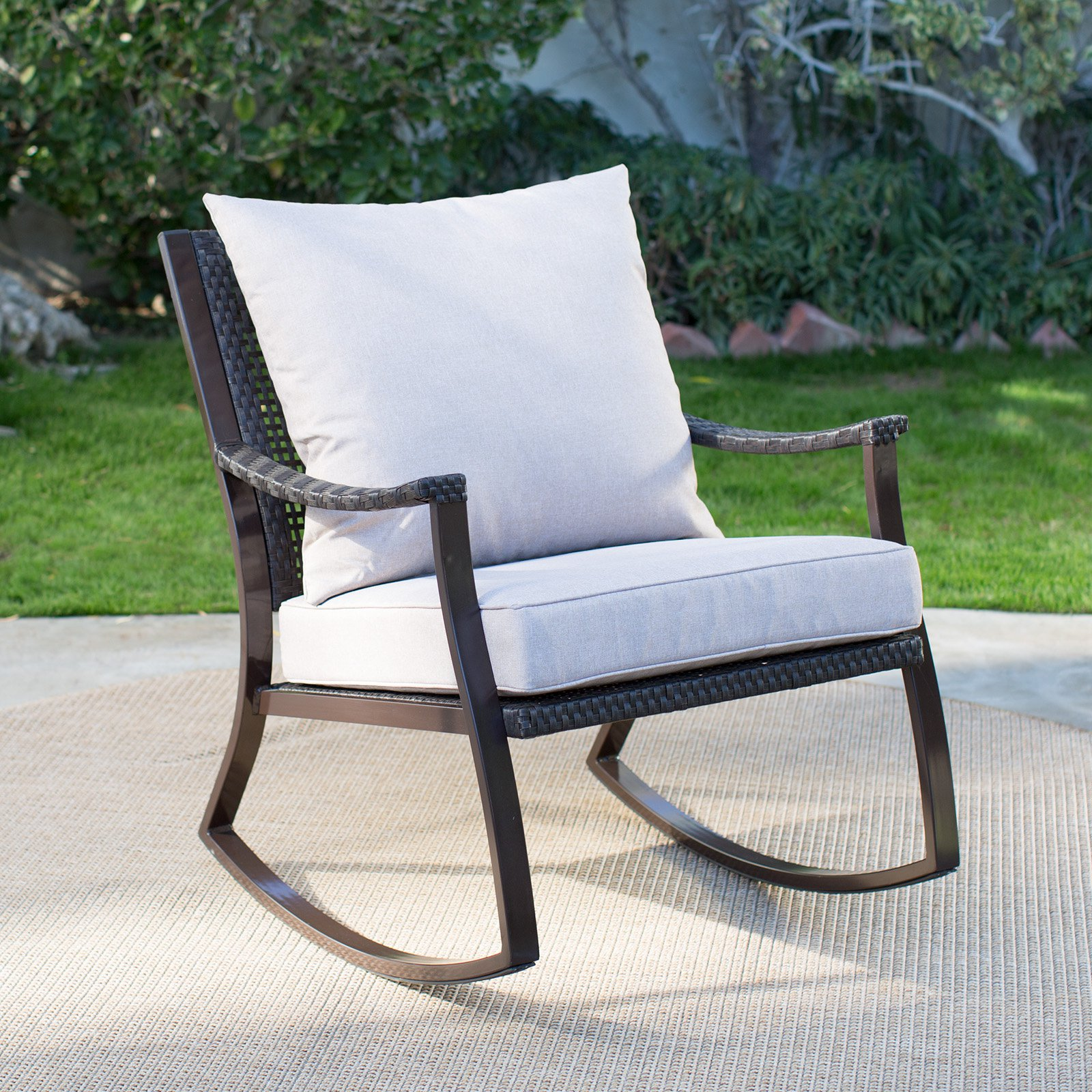 Coral Coast Losani All Weather Wicker Outdoor Rocking Chair
