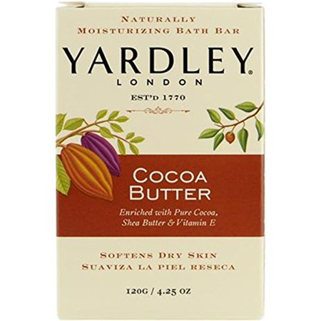 Yardley London Pure Cocoa Butter & Vitamin E Bar Soap, 4.25 Ounces /120 G (Pack of - Halloween Themed Bars In London
