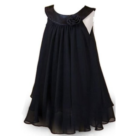 Kids Dream Girls Black Chiffon Breezy Simple Dress 2T](Black Girl Dresses)