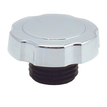 Spectre Industries 4320 Oil Filler Cap  Screw-In; Round; Chrome Plated Plastic; Silver - image 1 of 1