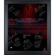 """Boston Red Sox Fanatics Authentic Framed Autographed 20"""" x 24"""" In Focus Photograph with Multiple Inscriptions & Signatures-#2-11 of a Limited Edition of 12 - No Size"""