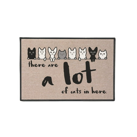 What On Earth There Are A Lot Of Cats Mat - Funny Olefin Welcome Door Mat