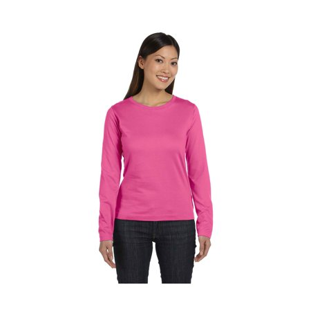 LAT Women's Stylish Topstitched Hemmed Sleeves T-Shirt, Style 3588