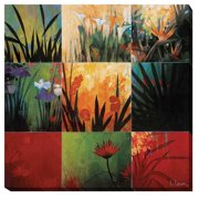 Artistic Home Gallery 'Tropical Nine Patch' by Don Li-Leger Graphic Art on Wrapped Canvas