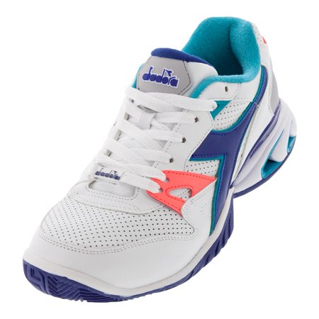 Men`s S Star K Ace AG Tennis Shoes White and Navy