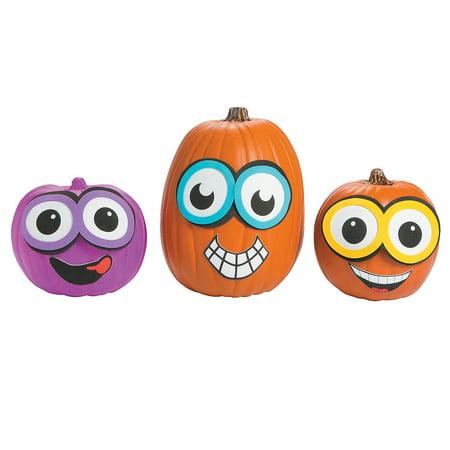 IN-13655609 Goggle Pumpkin Decorating Craft Kit (Pumpkin Craft)
