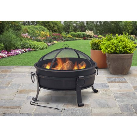Better Homes & Gardens 30 in. Cauldron Fire Pit with Pull-Ring - Halloween Fire Pit