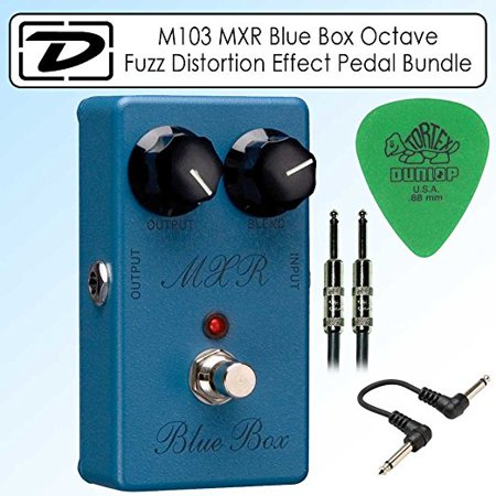 Dunlop M103 MXR Blue Box Octave Fuzz Distortion Effect Pedal Bundle With Accessories