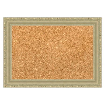 - Amanti Art Champagne Teardrop Framed Cork Board