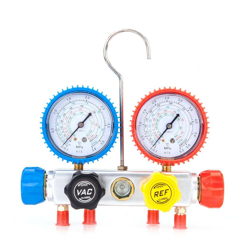 Zimtown R410,R134,R22,R407C Manifold Gauge High Low Pressure Gauge