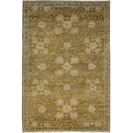 Solo Rugs One-of-a-kind Oushak Hand-knotted Area Rug 5' x (Oushak Green)