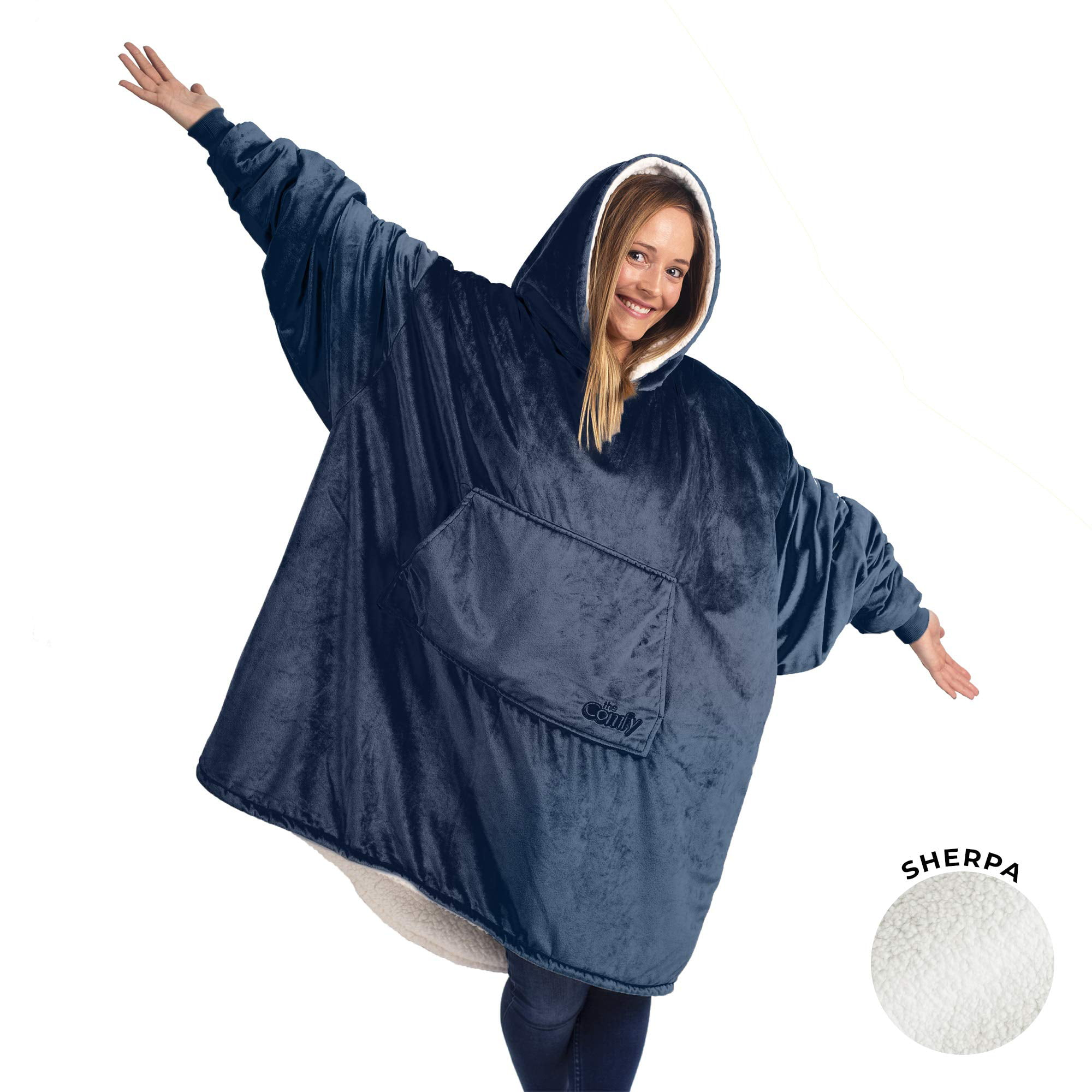 The Comfy The Original Blanket That/'s A Sweatshirt Blanket One Size Fits Most