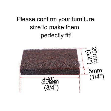 "Felt Furniture Feet Pads Square 3/4"" Self Adhesive Feet Floor Protector 24pcs - image 5 de 7"
