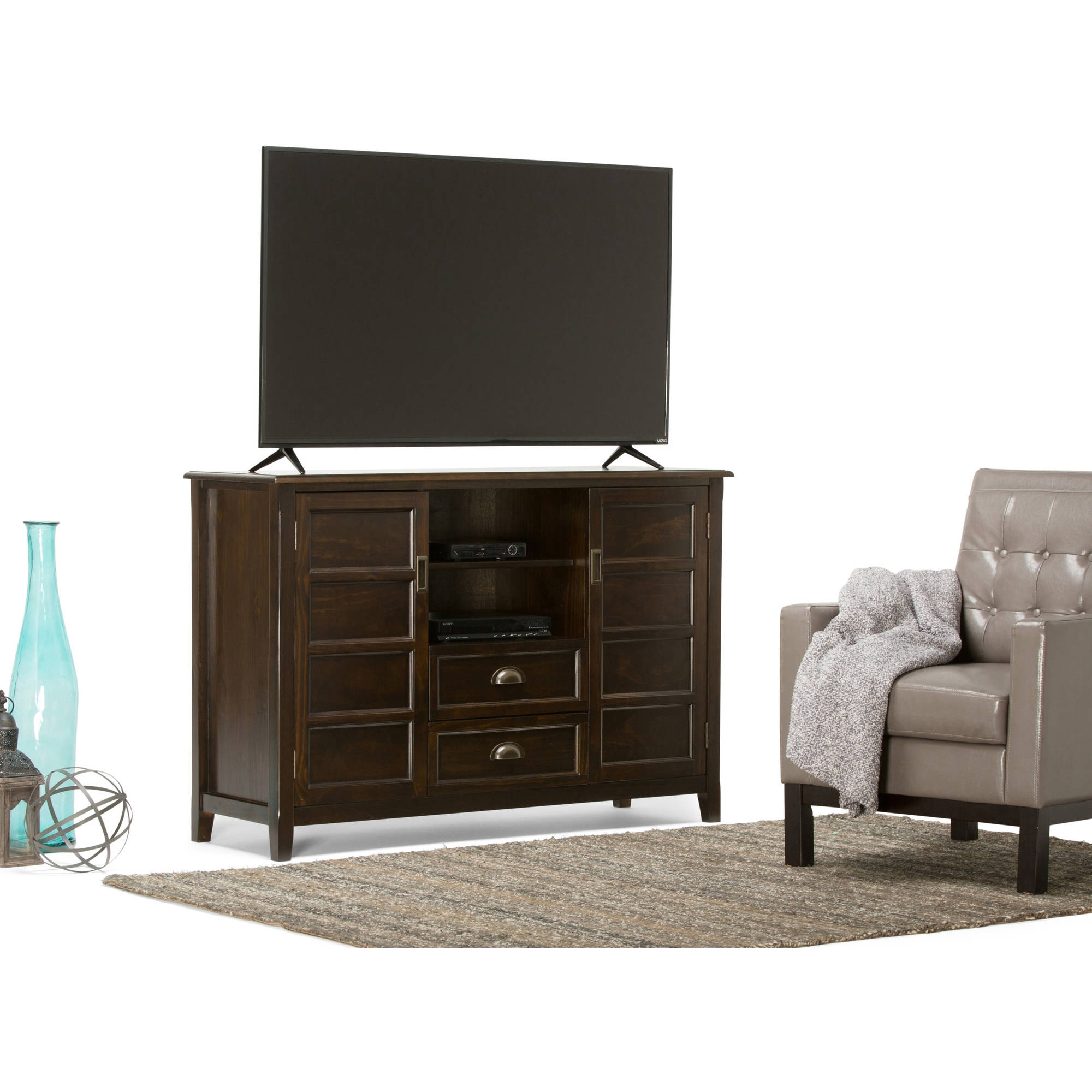 Brooklyn + Max Berkshire Collection Espresso Brown TV Media Stand for TVs up to 60""