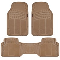 Motor Trend 100% Odorless Car Rubber Floor Mats - All Extreme Weather Protection, 3 Pieces For Auto, SUV, Van & Truck