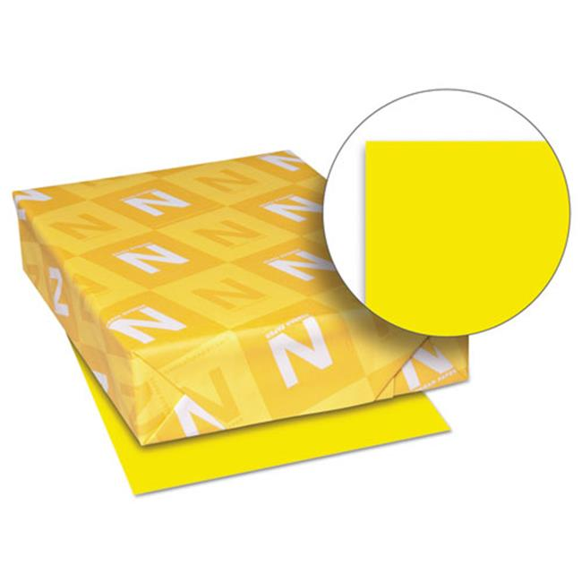 Wausau Papers 26701 8.5 x 11 Exact Brights Paper, Bright Yellow