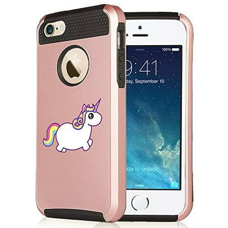 For Apple Iphone 7 Shockproof Impact Hard Soft Case Cover Rainbow Unicorn  Rose Gold Black
