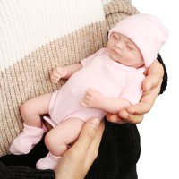 """11"""" Realistic Lifelike Handmade Silicone Sleeping Newborn Reborn Baby Doll Toy Girl with Cloth Look Real Infant for Children Kids Toddler Gift for Expectant Mothers Christmas gift"""