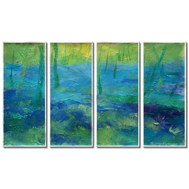 All My Walls 0128me00009 April Blue Metal Art 44 Multi Color Oversized Walmart Com Walmart Com