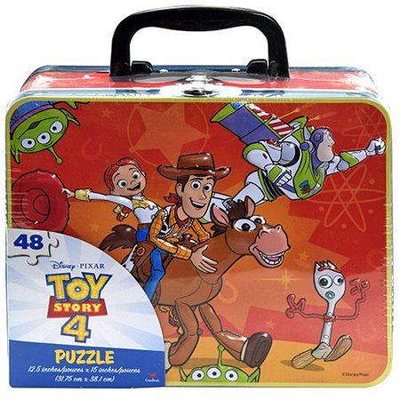 Toy Story 4 Large Lunch Tin Box with 48pc puzzle inside ()
