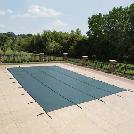 Mesh Safety Pool Cover - Blue Wave 18-Year Mesh In-Ground Pool Safety Cover - Green