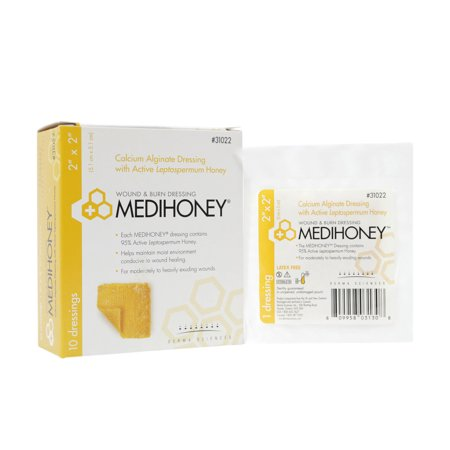 Medihoney Calcium Alginate Dressings with Manuka/Leptospermum honey 2