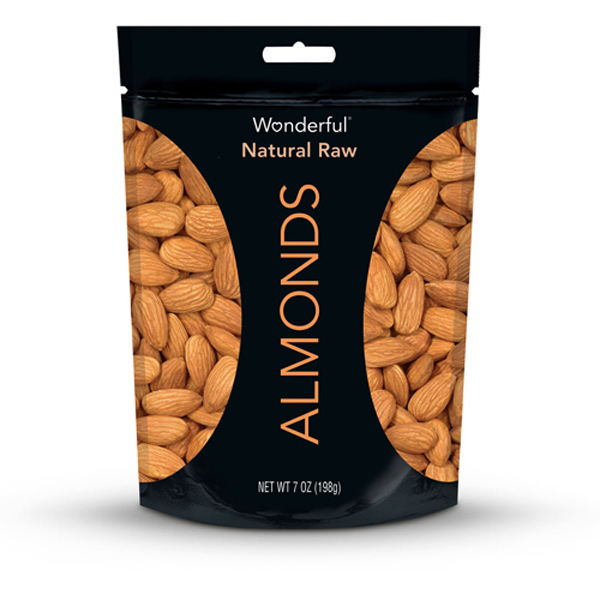 Wonderful Natural Raw Almonds 7 oz Pouches - Pack of 1