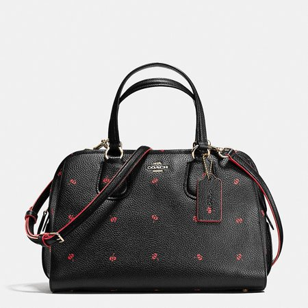 af2f6147c6d2 Coach - Coach Nolita Satchel Black Floral Print Leather Handbag Bag New -  Walmart.com