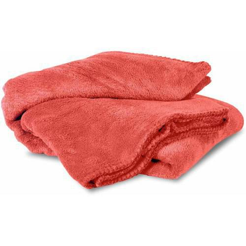 Mainstays Cozy Plush Fleece Throw Blanket, Orange, Multiple Colors