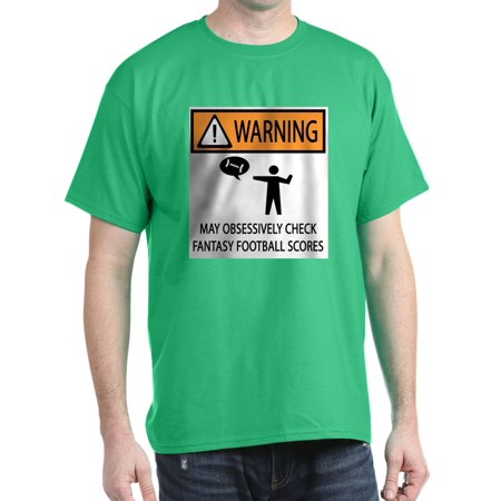 cfab1cb2393 CafePress - Checks Fantasy Football Scores T-Shirt - 100% Cotton T-Shirt -  Walmart.com