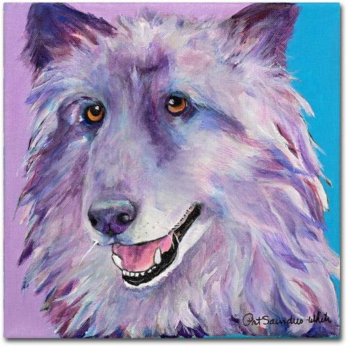 "Trademark Fine Art ""Puppy Dog"" Canvas Art by Pat Saunders"