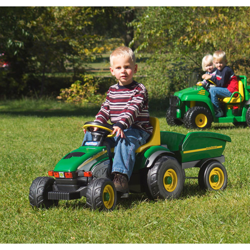 Peg Perego John Deere Farm Tractor and Trailer Pedal Ride-On