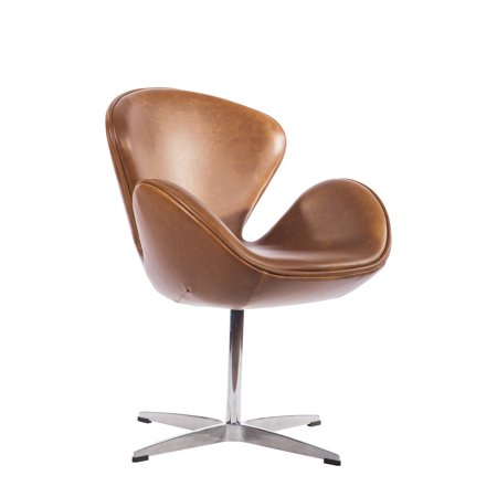 Mid Century Classic Arne Jacobsen Style Swan Replica Chair With PU Leather ()