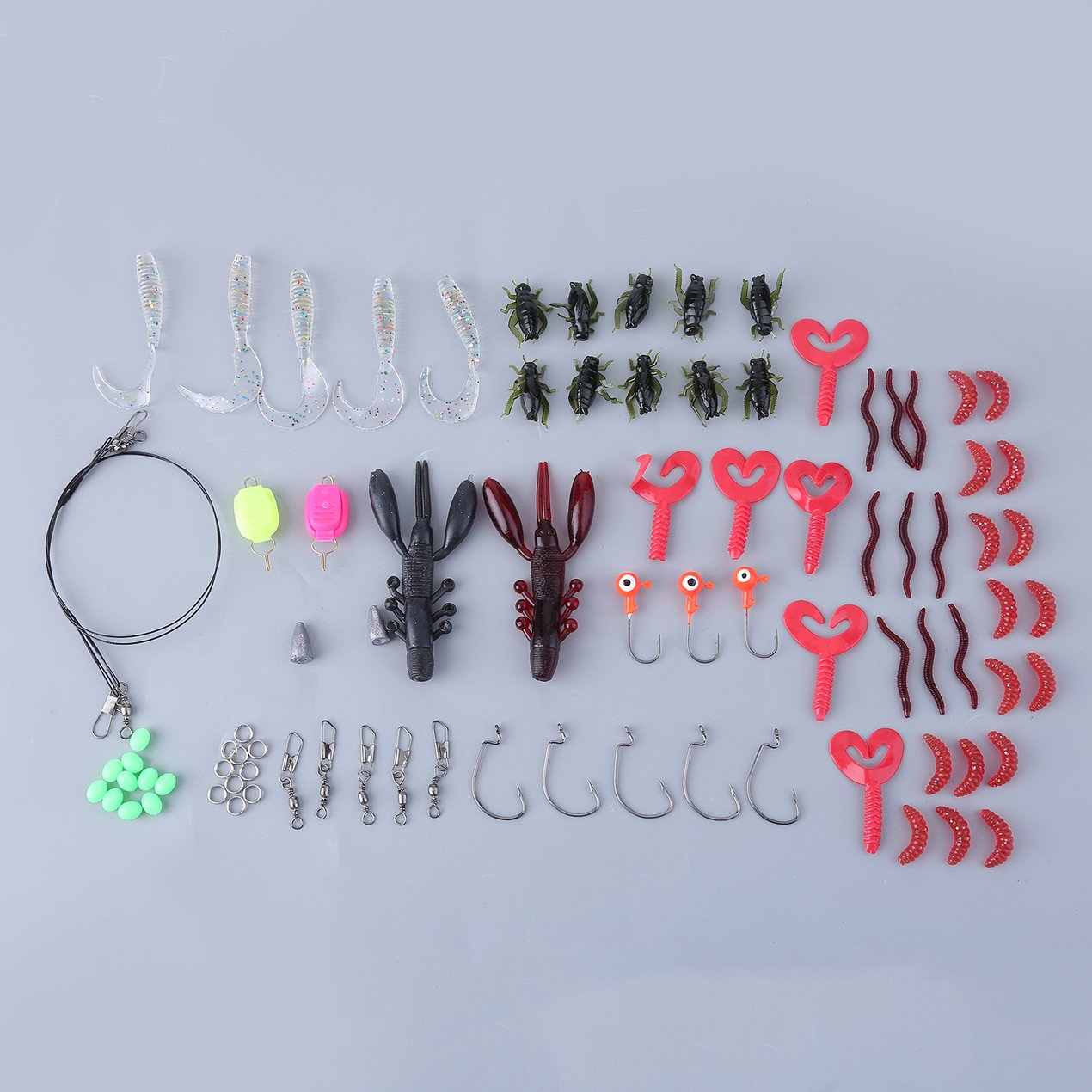 101pcs Fishing Lures Crankbaits Hooks Tackle Minnow Swim Baits With Box Set by