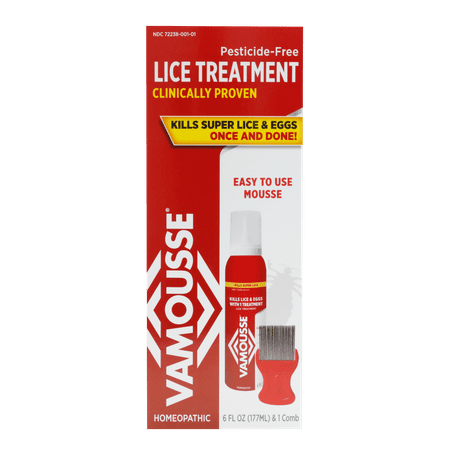 Vamousse Head Lice Treatment, 6 Oz