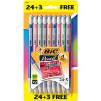 Bic Xtra-Sparkle Mechanical Pencil, Medium Point (0.7mm), #2 HB, 24+3 Bonus Count