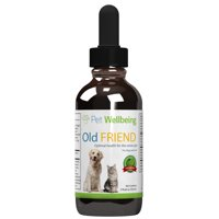 Pet Wellbeing Old Friend Senior For Cats - Optimal health for senior cats - 2 oz