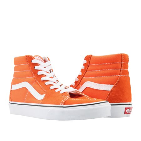 Vans Sk8-Hi Flame/True White Classic Hi Top Unisex Sneakers VN0A38GE2W1 (Hi Top Tennis Shoes)