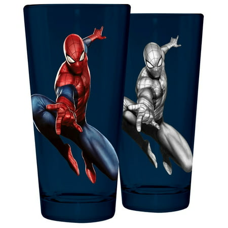 Pint Glass   Marvel   Spiderman Pencil   Color Sketch Gls Usm Cpsm