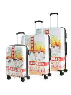 American Green Travel California 3-Piece Luggage Set